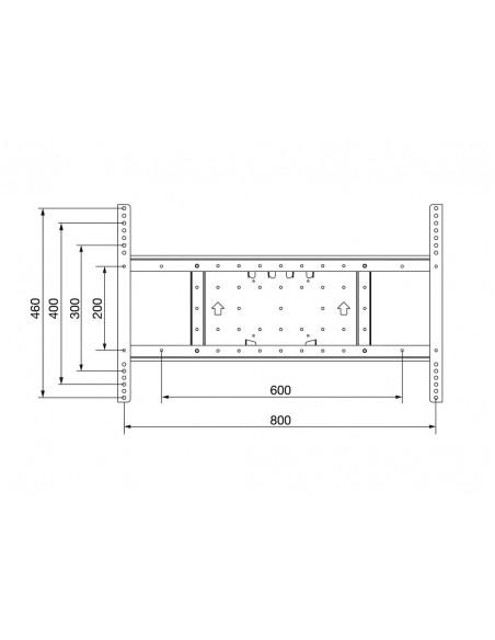 Multibrackets M VESA Extension kit Tilt & Turn 800x400 Multibrackets 7350022734043 - 4