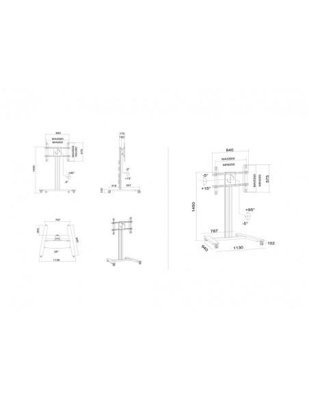 """Multibrackets 6269 kyltin näyttökiinnike 160 cm (63"""") Musta Multibrackets 7350022736269 - 31"""