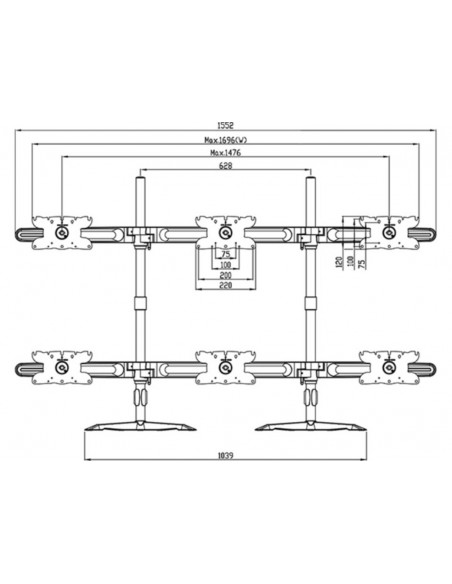 Multibrackets M VESA Desktopmount Triple Stand 24''-32'' Expansion Kit Multibrackets 7350073731329 - 18
