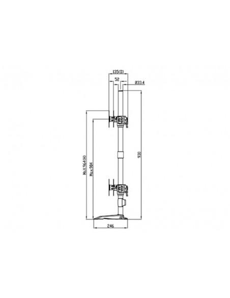 Multibrackets M VESA Desktopmount Triple Stand 24''-32'' Expansion Kit Multibrackets 7350073731329 - 19