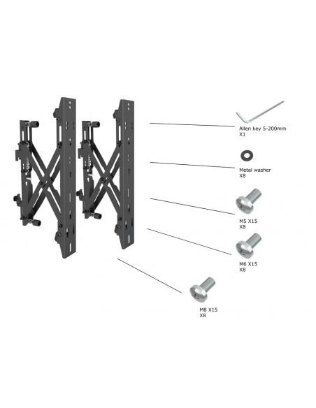 """Multibrackets 4726 kyltin näyttökiinnike 165.1 cm (65"""") Musta Multibrackets 7350073734726 - 24"""