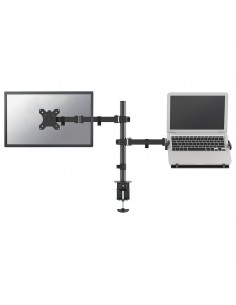 "Newstar FPMA-D550NOTEBOOK monitorin kiinnike ja jalusta 81.3 cm (32"") Puristin/Läpipultattu Musta Newstar FPMA-D550NOTEBOOK - 1"
