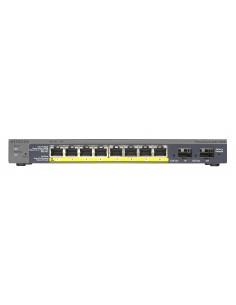 Netgear GS110TP Managed Gigabit Ethernet (10/100/1000) Power over (PoE) Black Netgear GS110TP-200EUS - 1