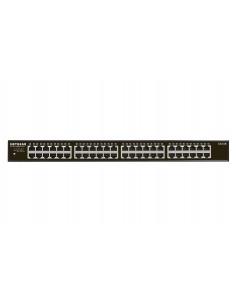 Netgear GS348 Unmanaged Gigabit Ethernet (10/100/1000) 1U Black Netgear GS348-100EUS - 1