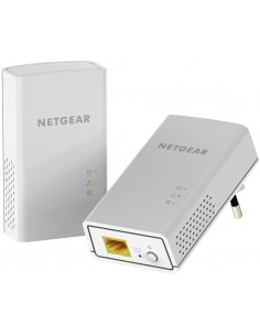 Netgear PowerLINE 1000 + WiFi Mbit/s Ethernet LAN Wi-Fi White 2 pc(s) Netgear PLW1000-100PES - 1