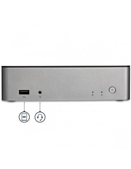 StarTech.com USB-C-dockningsstation för dubbla skärmar Windows med 2.5 tums SATA SSD/HDD-hårddiskfack Startech MST30C2HDPPD - 4