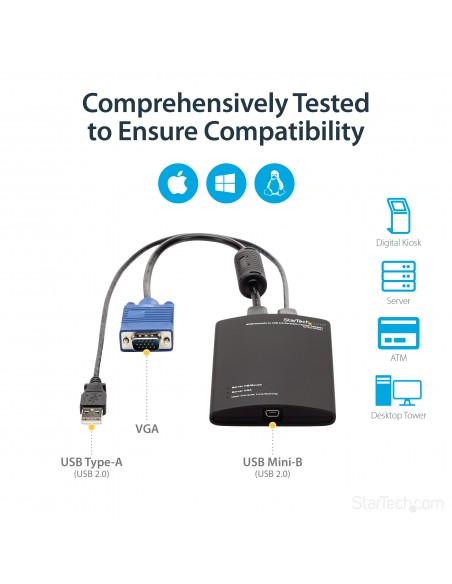 StarTech.com KVM-enhet till USB 2.0 akutvagn-adapter för bärbara datorer Startech NOTECONS01 - 10