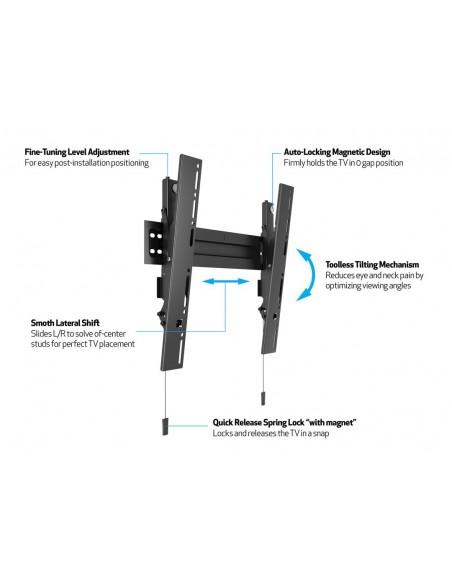 """Multibrackets 5532 TV-kiinnike 139.7 cm (55"""") Musta Multibrackets 7350073735532 - 11"""