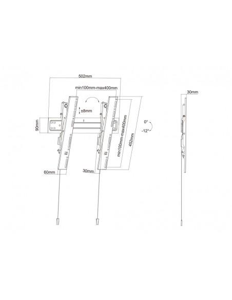 """Multibrackets 5532 TV-kiinnike 139.7 cm (55"""") Musta Multibrackets 7350073735532 - 19"""