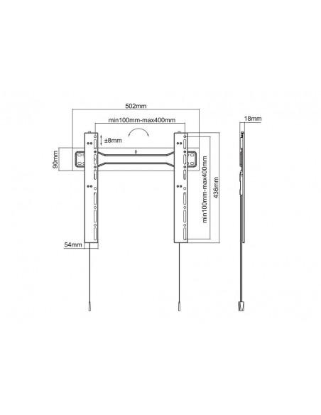 "Multibrackets 5556 tv-fäste 139.7 cm (55"") Svart Multibrackets 7350073735556 - 18"