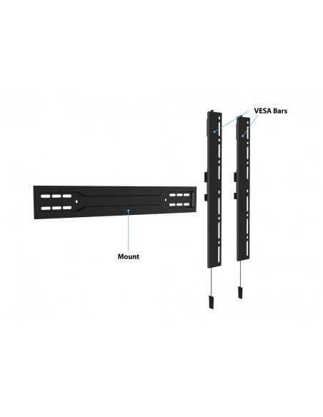 """Multibrackets 5563 fäste för skyltningsskärm 2.54 m (100"""") Svart Multibrackets 7350073735563 - 14"""
