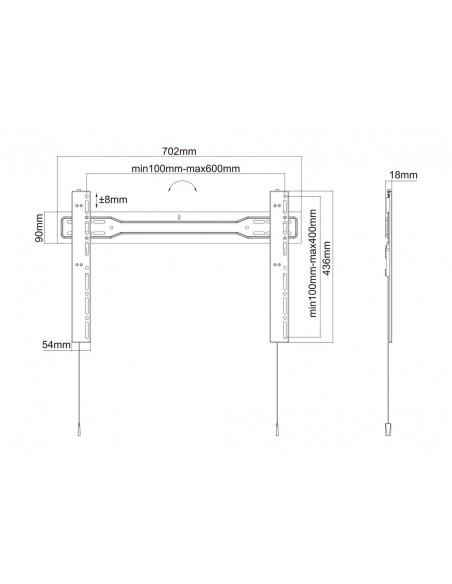 """Multibrackets 5563 fäste för skyltningsskärm 2.54 m (100"""") Svart Multibrackets 7350073735563 - 18"""