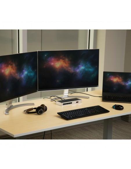 StarTech.com DK30A2DH kannettavien tietokoneiden telakka ja porttitoistin Langallinen USB 3.2 Gen 1 (3.1 1) Type-C Musta, Hopea