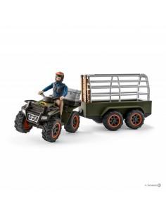 Schleich Wild Life Quad bike with trailer and ranger Schleich 42351 - 1