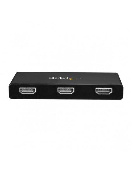 StarTech.com 3-Port Multi Monitor Adapter - USB-C to 3x HDMI Video Splitter USB Type-C MST Hub Dual 4K 30Hz or Triple 1080p Star