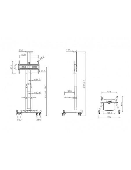 """Multibrackets 2319 fäste för skyltningsskärm 152.4 cm (60"""") Svart Multibrackets 7350073732319 - 23"""