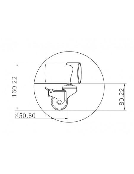 """Multibrackets 2319 fäste för skyltningsskärm 152.4 cm (60"""") Svart Multibrackets 7350073732319 - 25"""