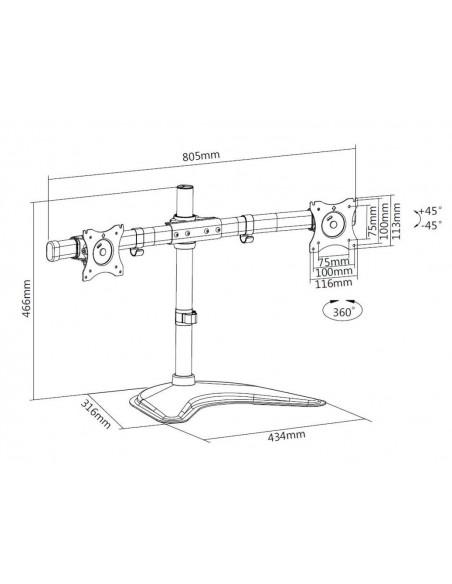 """Multibrackets 3330 monitorin kiinnike ja jalusta 68.6 cm (27"""") Vapaasti seisova Musta Multibrackets 7350073733330 - 19"""