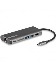 StarTech.com USB-C Multiport Adapter - SD-kortläsare Power Delivery 4K HDMI GbE 2x USB 3.0 Startech DKT30CSDHPD - 1