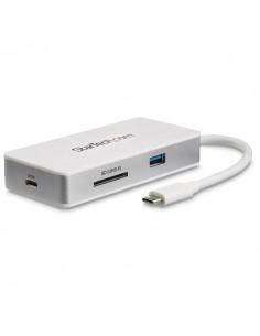 StarTech.com USB-C Multiport Adapter - SD (UHS-II) Card Reader 100W Power Delivery 4K HDMI GbE 1x USB 3.0 Startech DKT3CHSD4GPD