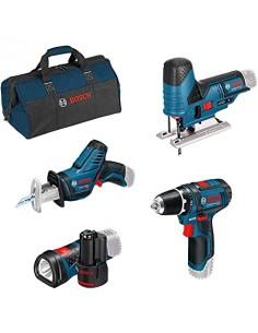 Bosch 12v Profi Set 4 Pcs. Gsr+gsa+gst+gli Bosch 0615990M06 - 1