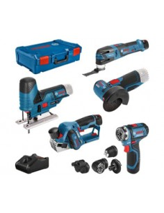 Bosch 12v Profi Set 5 Pcs. Gsr+gop+gho+gws+gst Bosch 0615A0017D - 1