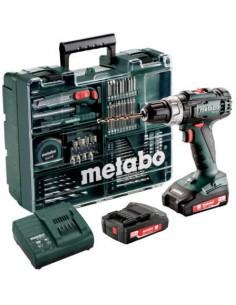 Metabo SB 18 L SET Pistooliporakone Musta, Vihreä 1800 RPM Litium-Ioni (Li-Ion) 2 ah 1,6 kg Metabo 602321870 - 1