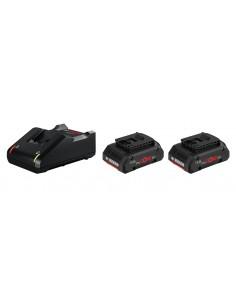 Bosch 1 600 A01 BA3 batteri och laddare för motordrivet verktyg Set med Bosch 1600A01BA3 - 1