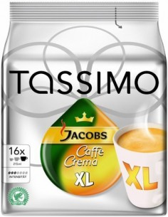 TASSIMO Caffe Crema XL Kaffekapslar 16 styck Bosch 4031501 - 1