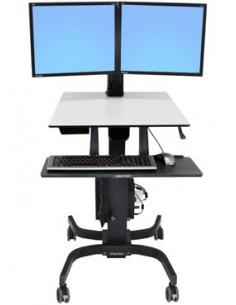 Ergotron WorkFit-C, Dual Sit-Stand Musta, Harmaa Litteä paneeli Multimediakärry Ergotron 24-214-085 - 1