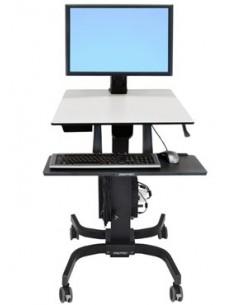 Ergotron WorkFit-C, Single HD Sit-Stand Workstation Musta, Harmaa Multimediakärry Ergotron 24-216-085 - 1