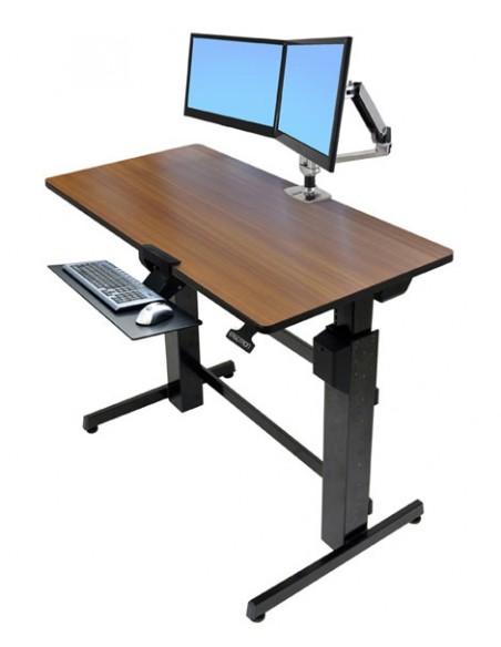 Ergotron WorkFit-D, Sit-Stand Desk tietokonepöytä Kirsikka Ergotron 24-271-927 - 2