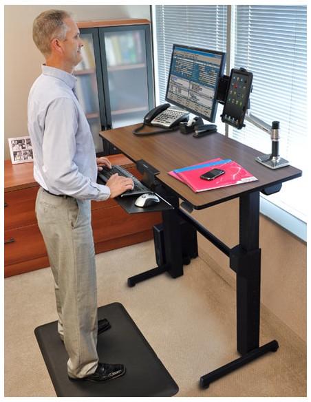 Ergotron WorkFit-D, Sit-Stand Desk tietokonepöytä Kirsikka Ergotron 24-271-927 - 7
