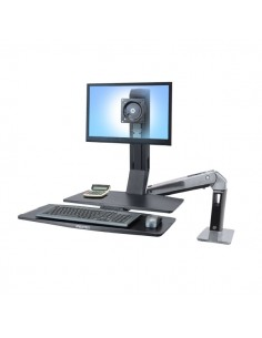 "Ergotron WorkFit -A, Single LD @ Worksurface+ 61 cm (24"") Musta Ergotron 24-317-026 - 1"