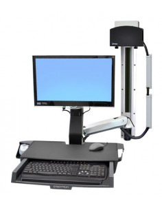 """Ergotron StyleView Sit-Stand Combo System with Worksurface 61 cm (24"""") Alumiini Ergotron 45-272-026 - 1"""