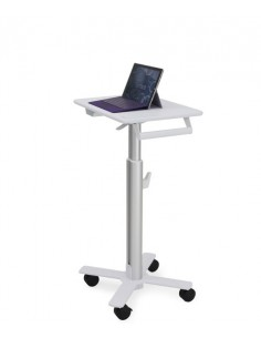 Ergotron StyleView S-Tablet Cart, SV10 Gjuten aluminium, Vit Surfplatta Multimediavagn Ergotron SV10-1800-0 - 1