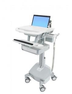 Ergotron StyleView Aluminium, Grey, White Notebook Multimedia cart Ergotron SV44-1112-2 - 1