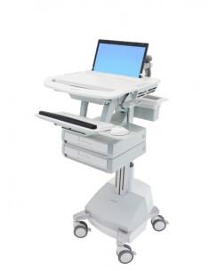 Ergotron StyleView Alumiini, Harmaa, Valkoinen Kannettava tietokone Multimediakärry Ergotron SV44-1121-2 - 1