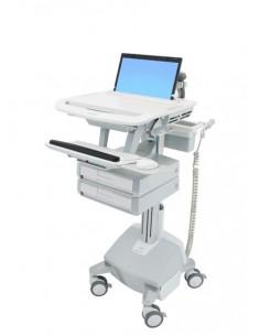 Ergotron StyleView Alumiini, Harmaa, Valkoinen Kannettava tietokone Multimediakärry Ergotron SV44-1122-2 - 1