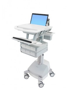 Ergotron StyleView Alumiini, Harmaa, Valkoinen Kannettava tietokone Multimediakärry Ergotron SV44-1161-2 - 1