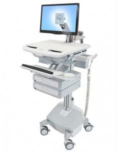 Ergotron StyleView Aluminium, Grey, White Flat panel Multimedia cart Ergotron SV44-1222-2 - 1