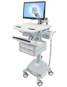 Ergotron SV44-1262-C multimedia cart/stand Aluminium, Grey, White Flat panel Ergotron SV44-1262-C - 1