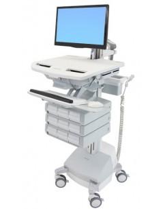 Ergotron SV44-1291-C multimedia cart/stand Aluminium, Grey, White Flat panel Ergotron SV44-1291-C - 1
