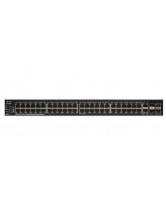 Cisco SF550X-48MP hanterad L3 Fast Ethernet (10/100) Strömförsörjning via (PoE) stöd 1U Svart, Grå Cisco SF550X-48MP-K9-EU - 1