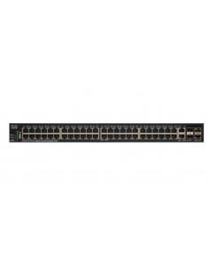 Cisco SG350X-48MP hanterad L3 Gigabit Ethernet (10/100/1000) Strömförsörjning via (PoE) stöd 1U Svart Cisco SG350X-48MP-K9-EU -