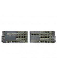 Cisco Catalyst WS-C2960+48PST-L verkkokytkin Hallittu L2 Fast Ethernet (10/100) Power over -tuki Musta Cisco WS-C2960+48PST-L -