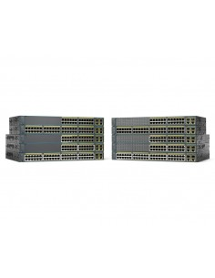 Cisco Catalyst WS-C2960+48TC-S verkkokytkin Hallittu L2 Fast Ethernet (10/100) Musta Cisco WS-C2960+48TC-S - 1