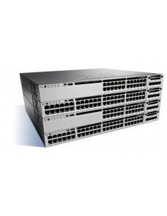 Cisco Catalyst WS-C3850-48W-S verkkokytkin Hallittu Musta, Harmaa Cisco WS-C3850-48W-S - 1