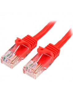 StarTech.com Cat5e Ethernet patchkabel med hakfria RJ45-kontakter - 5 m, Röd Startech 45PAT5MRD - 1