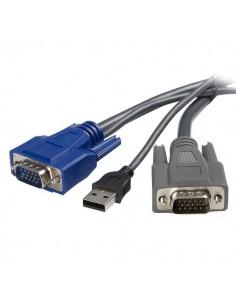 StarTech.com 10 ft Ultra-Thin USB VGA 2-in-1 Startech SVUSBVGA10 - 1